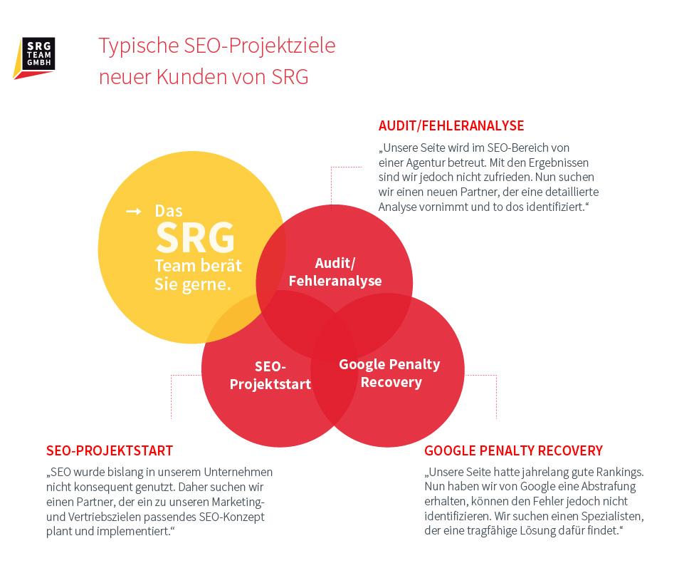 Informationen über typische SEO Projektziele
